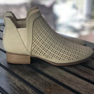 Restricted Shoes - Cutout Perforated Bootie Tan colored Size 8 NWT